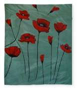 Poppy Love Fleece Blanket