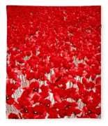 Poppy Meadow ... Fleece Blanket