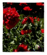 Poppy Pompom Fleece Blanket