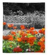 Poppy Seed Bench Fleece Blanket