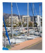 Port In Marbella Fleece Blanket
