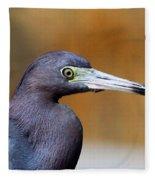 Portait Of A Little Blue Heron Fleece Blanket