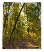 Portal Through The Woods Fleece Blanket