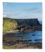 Portnaboe Bay At Giants Causeway Fleece Blanket