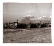 Old Port Of Trapani Fleece Blanket