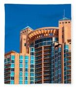 Portofino Tower At Miami Beach Fleece Blanket