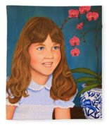 Portrail Of A Young Girl Fleece Blanket