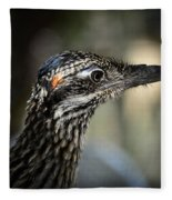 Portrait Of A Roadrunner  Fleece Blanket