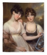 Portrait Of Anne And Maria Russell Fleece Blanket