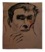 Portrait Of Frank Frazetta Fleece Blanket