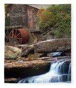 Portrait Of Glade Creek Mill Fleece Blanket