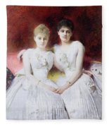 Portrait Of Marthe And Terese Galoppe Fleece Blanket
