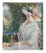 Portrait Of Miss Weir Fleece Blanket
