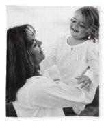 Portrait Of Mother And Daughter Fleece Blanket