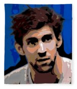 Portrait Of Phelps Fleece Blanket