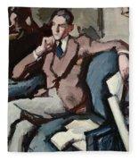 Portrait Of Willie Peploe Fleece Blanket