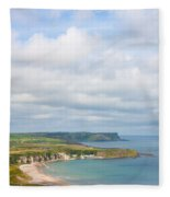 Portrait View Of White Park Bay Fleece Blanket