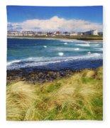 Portrush, Co Antrim, Ireland Seaside Fleece Blanket