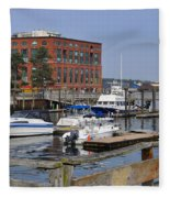 Portsmouth Waterfront Pwp Fleece Blanket