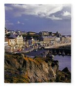Portstewart, Co Derry, Ireland Seaside Fleece Blanket