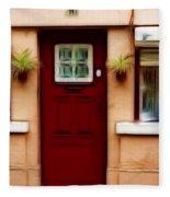 Portugal Red Door Fleece Blanket