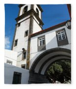 Portuguese Architecture Fleece Blanket