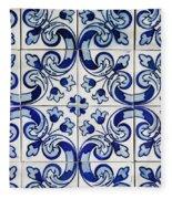 Portuguese Azulejo Fleece Blanket