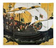 Portuguese Galleon Fleece Blanket