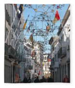 Portuguese Street Fleece Blanket