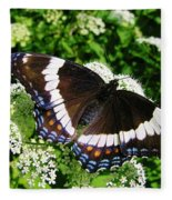 Posing Butterfly Fleece Blanket