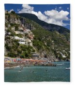 Positano Seaside Fleece Blanket