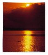 Potomac Sunrise Washington Dc Fleece Blanket