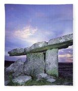 Poulnabrone Dolmen, The Burren, Co Fleece Blanket