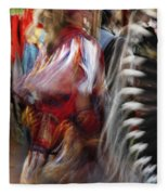 Pow Wow Dancer Fleece Blanket
