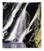Powerscourt Waterfall, Co Wicklow Fleece Blanket