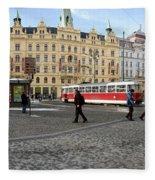 Prague Czech Republic Fleece Blanket