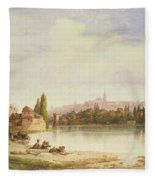 Prague Czechoslovakia Fleece Blanket