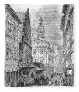 Prague: Jewish City Hall Fleece Blanket