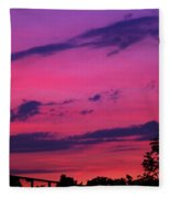 Prague Sunset Fleece Blanket