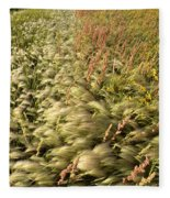 Prairie Crop With Weeds Fleece Blanket
