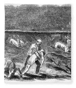 Prairie Fire, 1844 Fleece Blanket