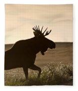Prairie Moose Fleece Blanket