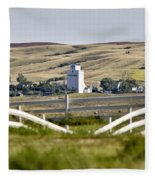 Prairie Town With Elevator Fleece Blanket