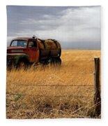 Prarie Truck Fleece Blanket