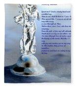 Prayer To St Christopher Fleece Blanket