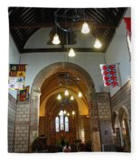 Praying At The St Mary Church Inside Dover Castle In England Fleece Blanket