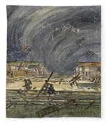 Kansas Cyclone, 1887 Fleece Blanket