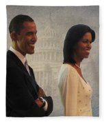 President Obama And First Lady Fleece Blanket