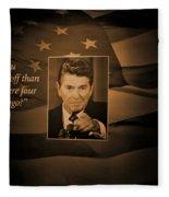 President Reagan Fleece Blanket