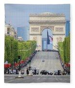 President Sarkozy Fleece Blanket